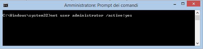 Abilitare e disabilitare l'account amministratore nascosto di Windows 8 e 8.1