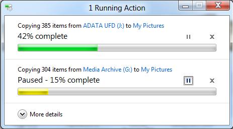 Aumentare i dettagli delle copie di File in Windows 8
