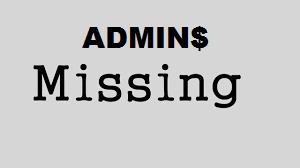 Windows Server Share Amministrative mancanti o sparite.
