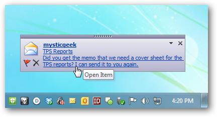 Outlook e IMAP: quando non appare il popup dei nuovi messaggi