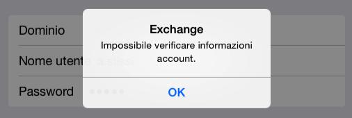 Exchange Server : Impossibile configurare account di posta su smartphone