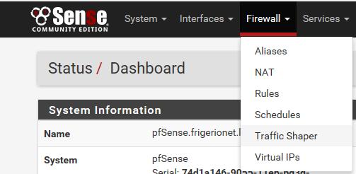 pfsense-traffic-shaper