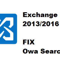 Exchange 2013/2016 Outlook and OWA Search Box non Funziona