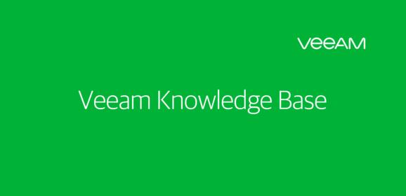 VEEAM Backup : Discovery phase failed. Cannot add volumes to the snapshot set