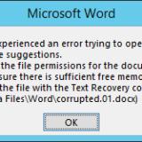 Microsoft Word: riparare un file di testo corrotto in pochi semplici passaggi
