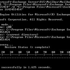 Ripristino del database di Exchange: utilizzo dello strumento eseutil